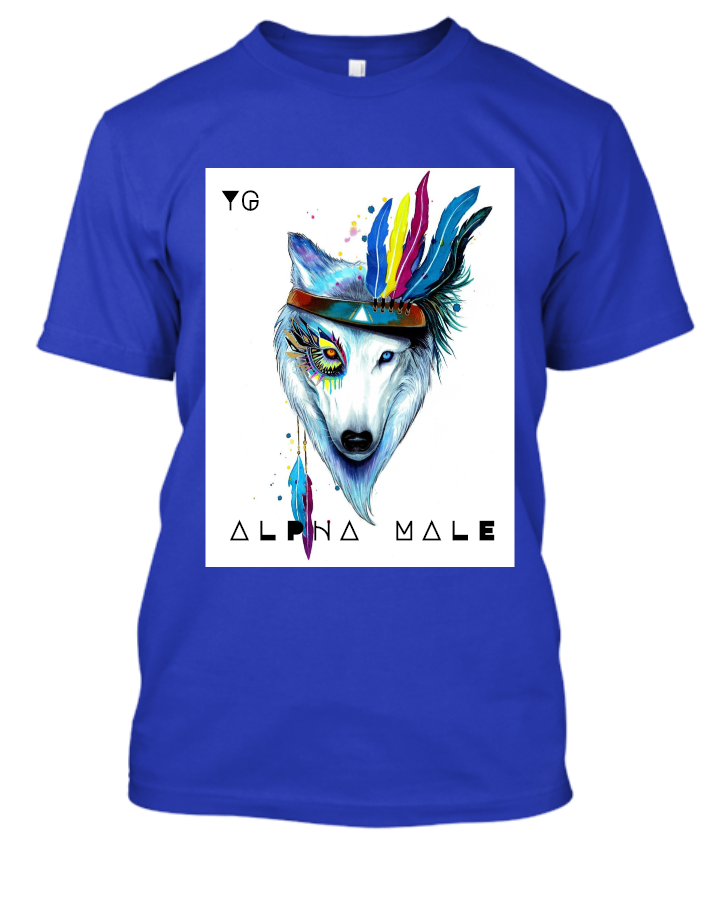 Alpha Male Wolf T-shirt Limited Edition| Yash Gallery|High Quality Best Price Color Variety |BUY NOW| HURRY!!! - Front