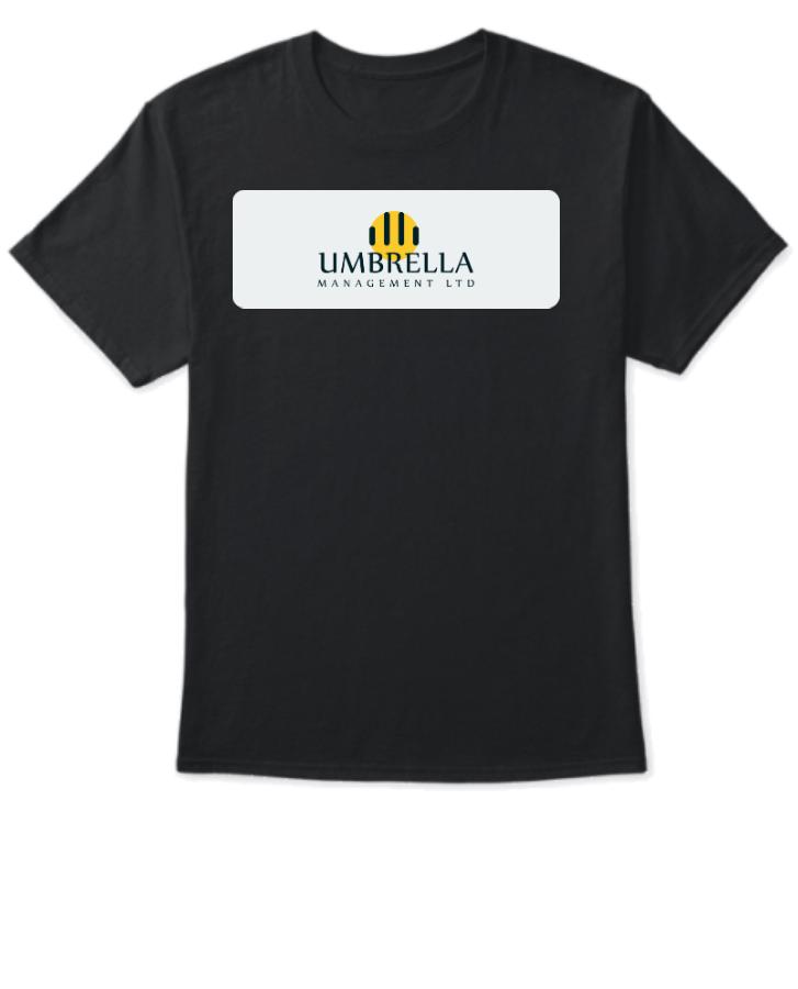 Black T-shirt Design With Logo - Front