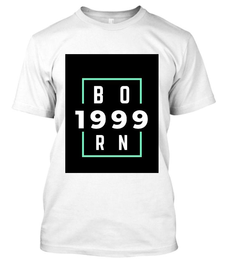 Born 1999 Half sleeves tshirt men - Front