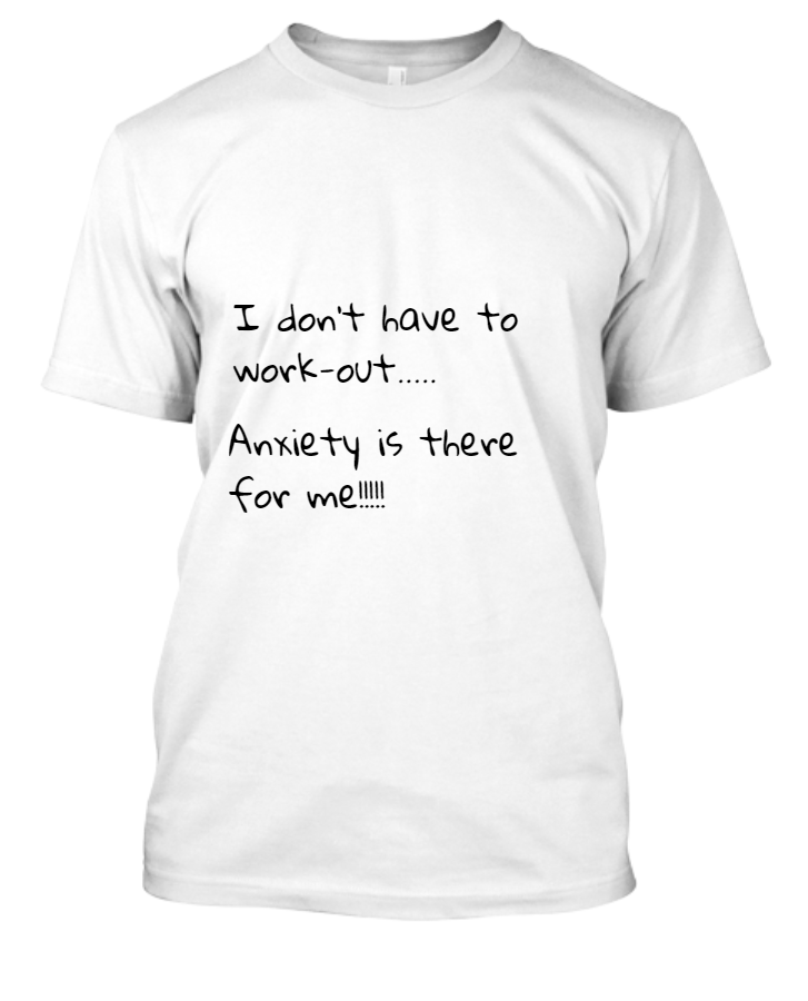Half sleeve anxiety t-shirt - Front