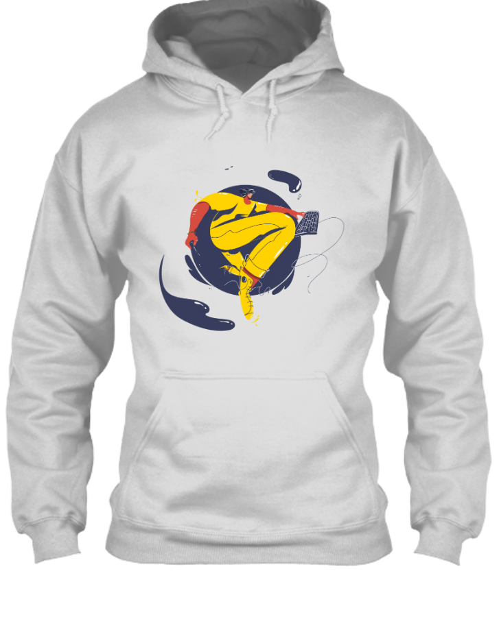 Hoodie Design With Illustration - Front