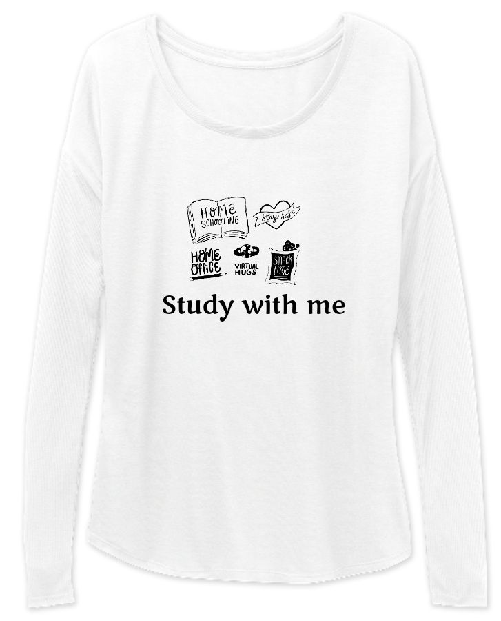 Study with Me long sleeve for women - Front