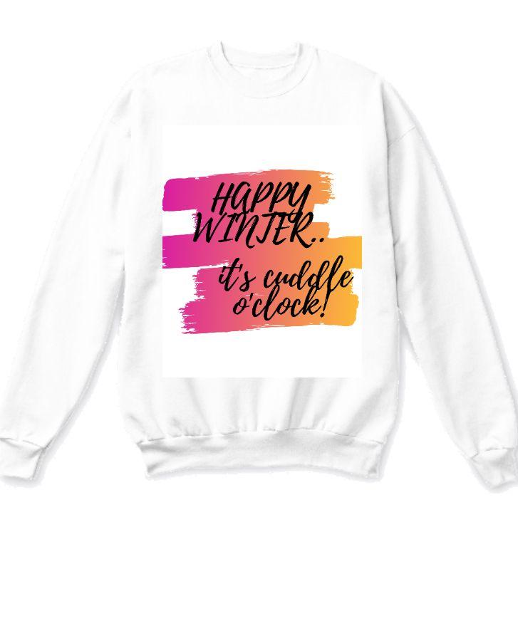 White printed sweatshirt - Front