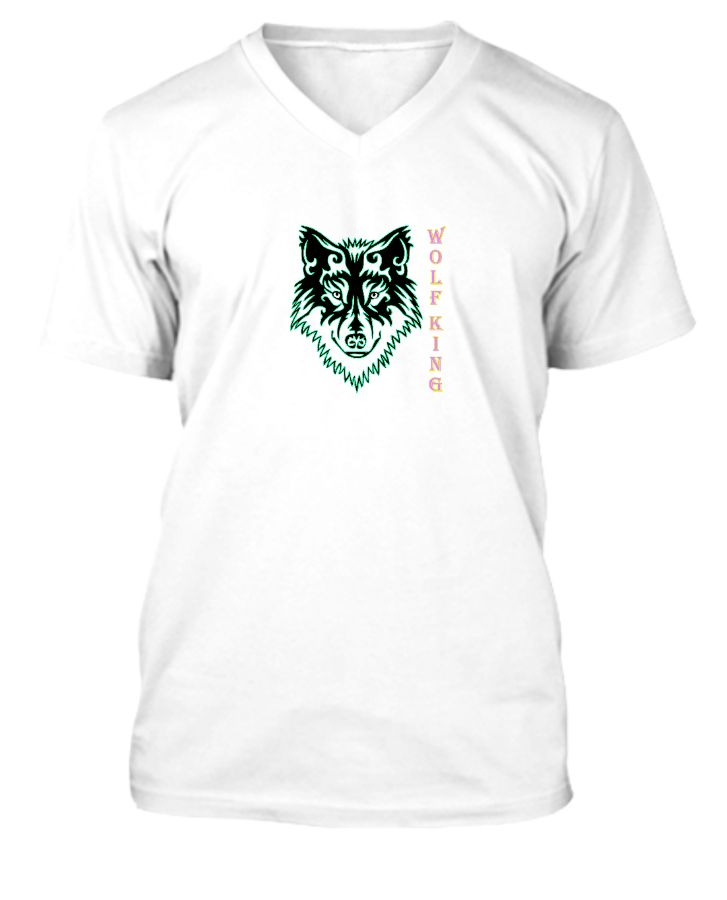 Wolf King Tees By WhiteHyena - Front
