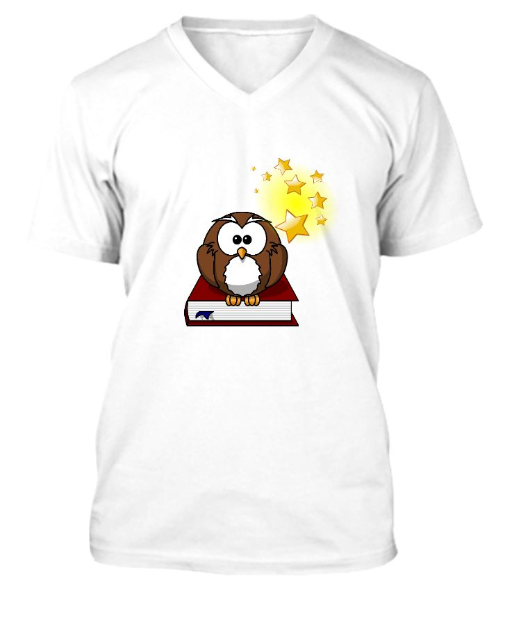owl with star t-shirts - Front